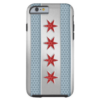 Chicago Flag Brushed Metal Tough iPhone 6 Case