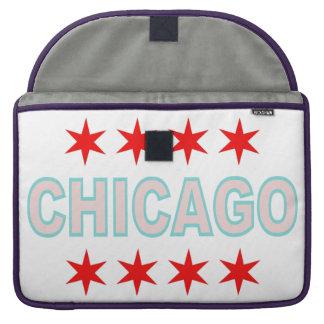 Chicago Flag inspired Design Sleeve For MacBook Pro