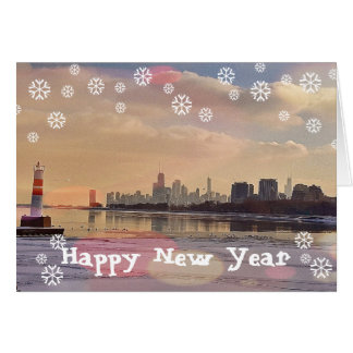 CHICAGO HAPPY NEW YEAR CARD