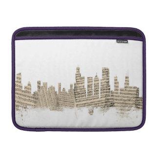 Chicago Illinois Skyline Sheet Music Cityscape MacBook Sleeve