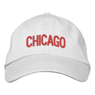 Chicago Personalized Adjustable Hat Embroidered Baseball Cap