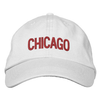 Chicago Personalized Adjustable Hat Embroidered Baseball Caps