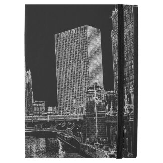 "Chicago River 1967 Wrigley Building Sun Times Bldg iPad Pro 12.9"" Case"