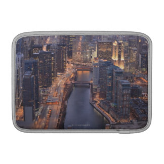 Chicago River and Trump Tower from above MacBook Sleeve