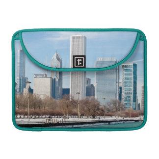 Chicago skyline across frozen Lake Michigan Sleeve For MacBooks
