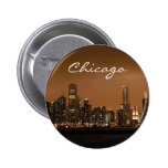 Chicago Skyline at night at Navy Pier Badge
