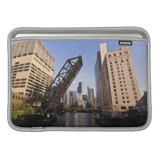 Chicago Skyline from the Kinzie Street Bridge Sleeve For MacBook Air