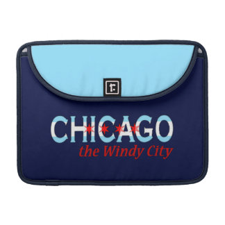 Chicago the Windy City, Chicago Flag Design Sleeve For MacBooks