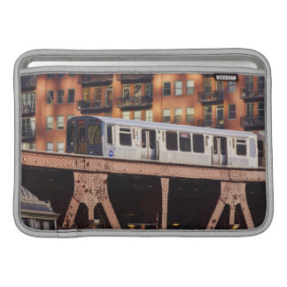 Chicago Train at Riverbend MacBook Sleeve