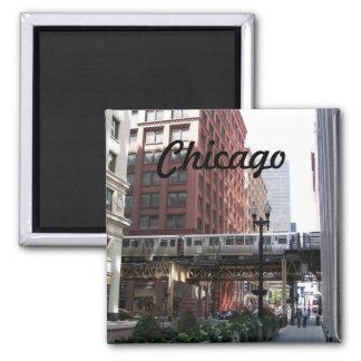 Chicago Travel Photo Square Magnet