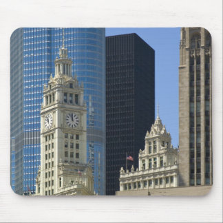 Chicago, Wrigley Building with Trump Hotel & Mouse Pad