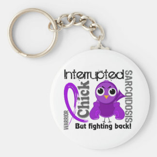 Chick Interrupted 3 Sarcoidosis Basic Round Button Key Ring