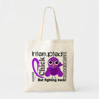 Chick Interrupted 3 Sarcoidosis Canvas Bags