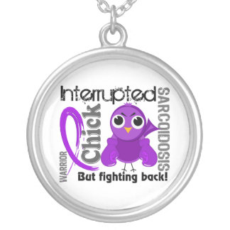 Chick Interrupted 3 Sarcoidosis Round Pendant Necklace