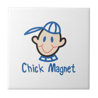 Chick Magnet Small Square Tile