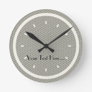 Chick Teens Dorm Loft Grey Leather Cream Clock