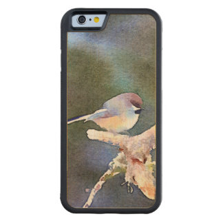 Chickadee in the Twilight: Carved Maple iPhone 6 Bumper Case