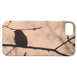 Chickadee on Branch in Twilight Silhouette Case For The iPhone 5