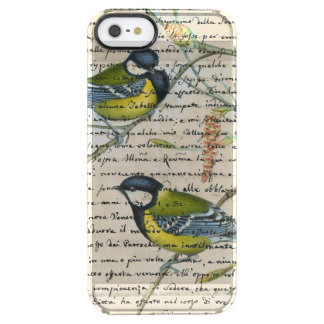 chickadees birds collage clear iPhone SE/5/5s case