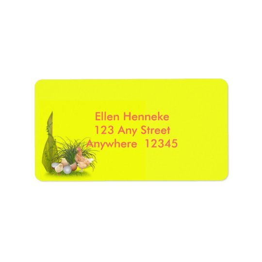 Chicken and Chicks Address Label