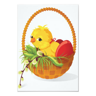 Chicken And Eggs In Basket Invitations