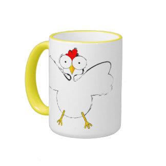 Chicken cartoon illustration mug