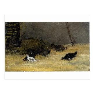 Chicken Coop by Paul Gauguin Postcard