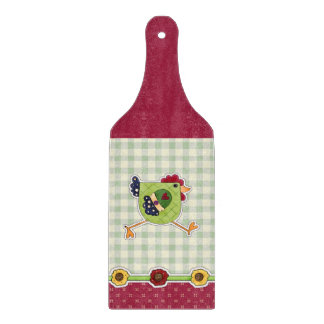 Chicken Country Design Gift Cutting Board Paddle
