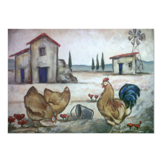 Chicken-Farm Scene Card