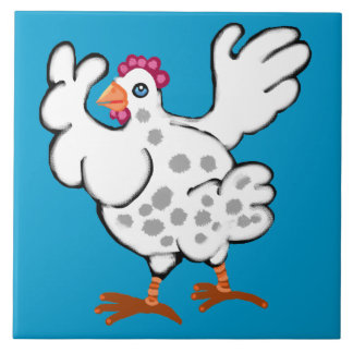 Chicken flapping her wings tile
