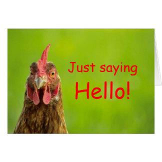 Chicken - Hello Greeting Card