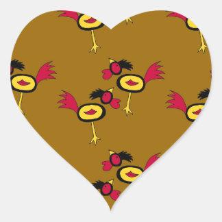 chicken hop heart sticker