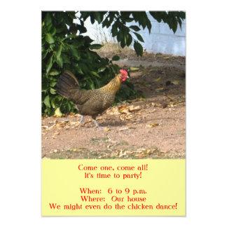 Chicken Party Invitations Personalized Invite