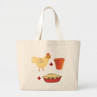 Chicken Pot Pie Large Tote Bag
