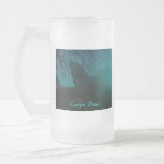 """chicken rooster """"carpe diem """" mug cup"""