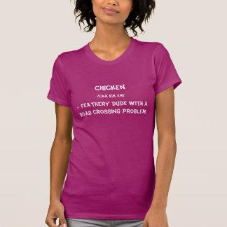 Chicken T-Shirt, Women's, White Writing Tshirts