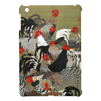 Chickens Roosters Japanese Art Ipad Mini Case