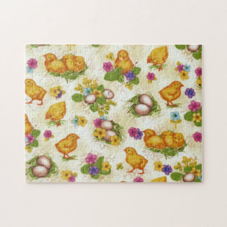 Chicks and Easter Eggs Jigsaw Puzzle