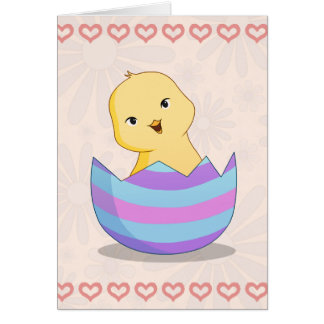 Chicky in an Easter Egg Happy Easter Card