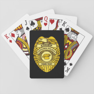 Chief Of Kitchen Police Badge Playing Cards