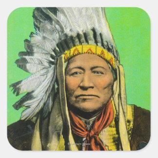 Chief Washakie Portrait Square Sticker