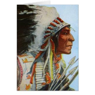 Chief Wolf Robe Blackfeet Native American Card
