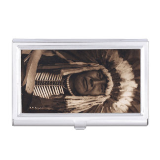 Chief Yellow Owl Vintage Blackfoot Edward Curtis Business Card Holder
