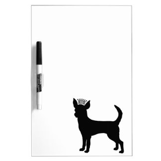 Chihuahua Basic Black Crown Silhouette Dry Erase Board