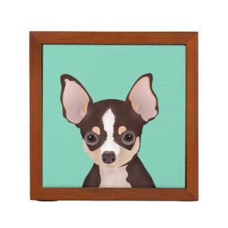 Chihuahua cartoon desk organiser