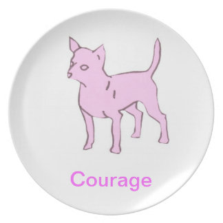 Chihuahua Courage Cancer Awareness Plate