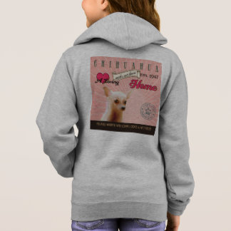 Chihuahua Dog Art Poster- Makes Our House Home Hoodie