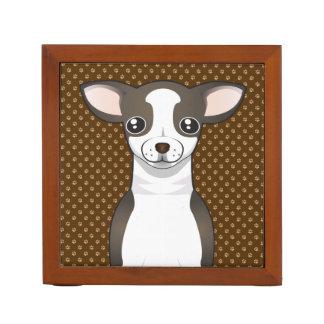 Chihuahua Dog Cartoon Paws Desk Organiser