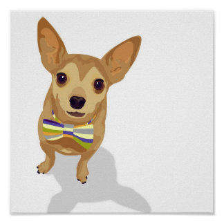 Chihuahua in a bowtie poster