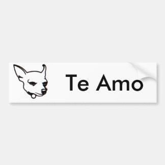 Chihuahua Te Amo bumper sticker